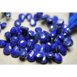 Peacock Blue Natural Blue Lapis Faceted Pear
