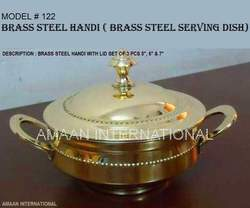 Handi Brass Steel with Lid