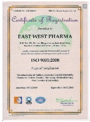 East West Pharma gets ISO certification  (Oct 14, 2010)