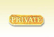 private small sign plate