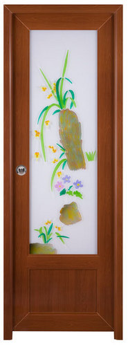 I-leaf Pvc Decorative Glass Door -
