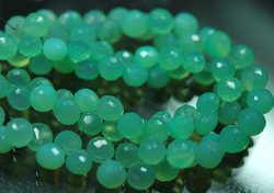 Chrysoprase Color Chalcedony Faceted Onion