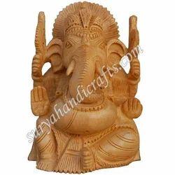 Wooden Ganesha With Fine Work