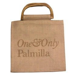 Jute Bags With Wooden Handle