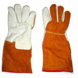 Welding Gloves with chrome Palm Leather