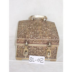 Carved Metal Box