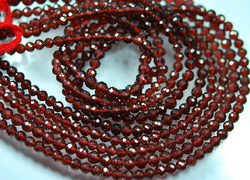 Red Garnet Faceted Round Rondelles Briolettes