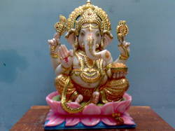 Ganapathi Marble Statue