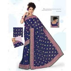 Pleasant Purple Designer Saree