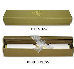 Boxed Fancy Scroll Wedding Invitation