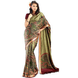 Kanchipuram Crepe Silk Saree