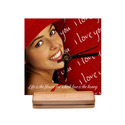 Economical Personalized Clock with Wooden Stand