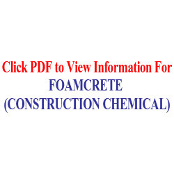 Foamcrete(Construction Chemical)