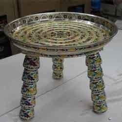 German Minakari Item Kansar Table Wholesaler From Rajkot