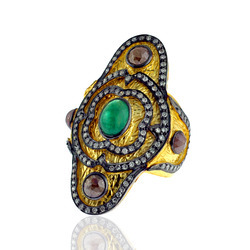 Gemstone Studded Diamond Rings