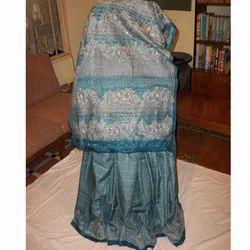 Tussar Sari Hand Embroidery Zari