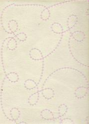 Sequin Embroidered Non Woven Papers For Scrapbooking