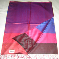 Pure Silk Reversible Border Design Scarves