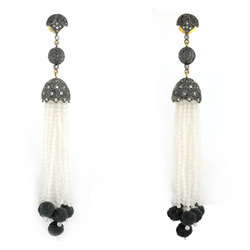 Tassel Gemstone Earrings