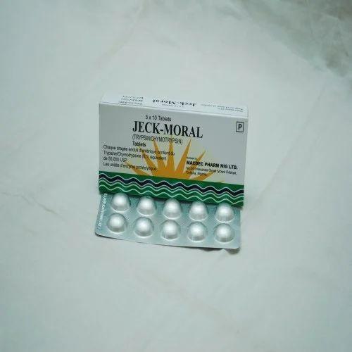 Trypsin/ Chymotrypsin Tablet (Jeck Moral)