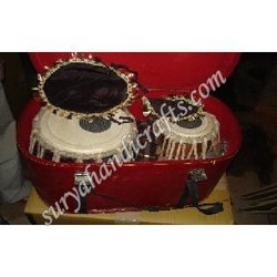 Steel Tabla With Box Ring Set & Hammer