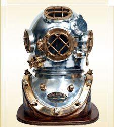 Divers Helmet Mark V Chrome