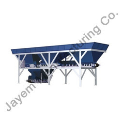 in line type concrete batching plant