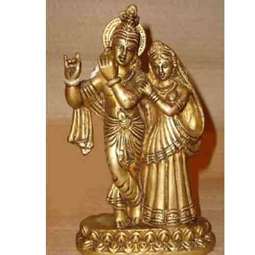 Brass Radhe-Krishna Statue