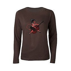 Brown Full Sleeves T-Shirt