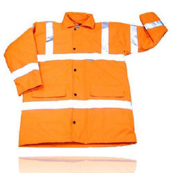 Hi-Vis PU Coated Polyester Fabric Jackets
