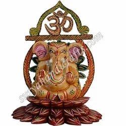 Wooden Painting Kamal Ganesha