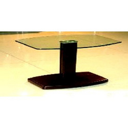 Center Table with narrow wood base