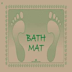 Paper Bath Mat Made from 100% Post Consumer Waste