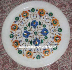 decorative marble inlay plate