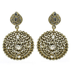 Designer Indian Diamond Earrings