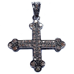 Pave Diamond Cross Pendant
