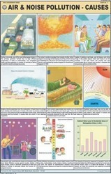 Air & Noise Pollution Causes For Man & Environment Chart