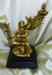 Brass Shiv With Ganga In Wooden Base