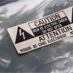 Metalized Non Self Adhesive Labels