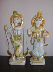 Radha Krishna Sculpture (White)