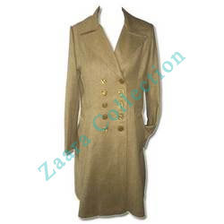 Golden Yellow Woolen Coat