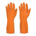 Orange Industrial Rubber Hand Glove