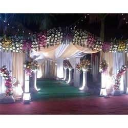 Gate Decoration - Flowerpot Type Decoration & Wedding Golden