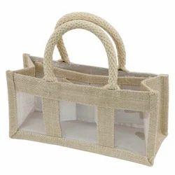 Jute Three Jar Bag