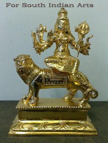 Bronze Durga Sitting Statue