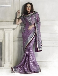 Sareegalaxy - Purple Brasso Saree With Blouse