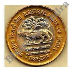 10 Rupees Coin Lion