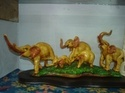 Resin Elephant Family