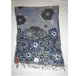 Item no 607 woolen jamawar boiled with hand-embroidery shawl
