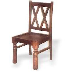 Wooden Cross Strips Back Chair